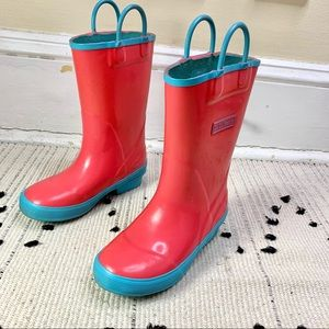 L.L. Bean Puddle Stompers Pink Rain Boot Youth 11